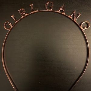 Girl gang head band in rose gold